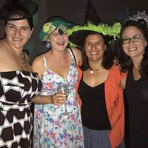 Some of our members dressed up for our Purim party.
